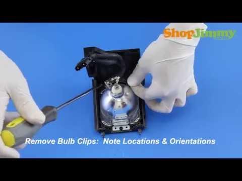 Replacing a Mitsubishi DLP TV Lamp - 915B403001 Bulb/Lamp - How to Repair DLP TVs