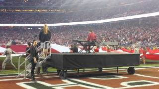 Donald Gould Playing The Star Spangled Banner For San Francisco 49ers
