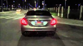 Mercedes Benz W205 C63 with Fi Exhaust Brutal acceleration sound !!!
