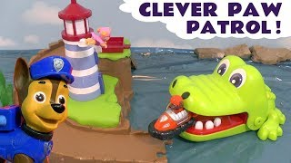 Paw Patrol Stop Motion Roll Patrol with Crocodile Trouble and Wally Rescue toy stories for kids TT4U