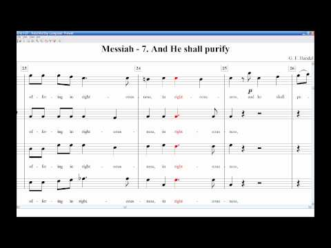 Messiah 07 He Shall Purify SATB