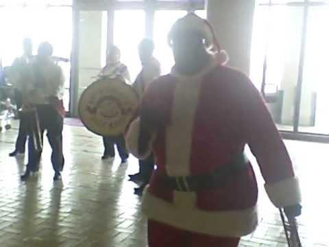 Ronell as the Riverwalk Santa 2011(NOLA)-