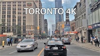 Driving Downtown - Torontos Main Street 4K - Canada