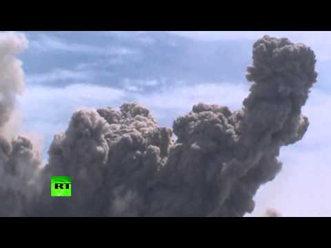 Gas Clouds: Mount Sinabung volcano spews hot ash in Indonesia