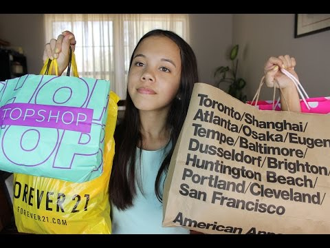 HUGE MALL HAUL // American Apparel, Urban Outfitters, Topshop, + More!