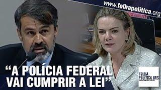Gleisi Hoffmann sofre 'invertida' ao questionar delegado da PF sobre fala de Bolsonaro e terrorismo