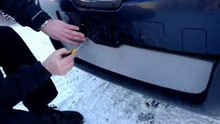 Видео: Защитная сетка радиатора Nissan Qashqai 2006 2010 chrome