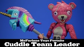Fortnite Cuddle Team Leader McFarlane Toys Action Figure Review