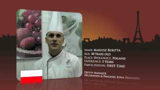 Watch Mariusz Buritta frorn Poland prepare from for the World Chocolate Masters Final 2011