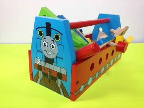Thomas And Friends Themed Wooden Tool Kit Designed After Thomas The Tank Engine video