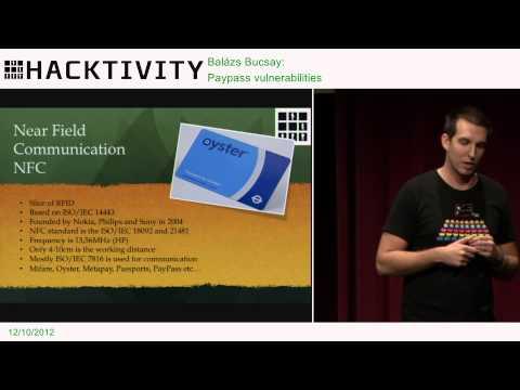 Hacktivity 2012 - Balázs Bucsay - Paypass vulnerabilities