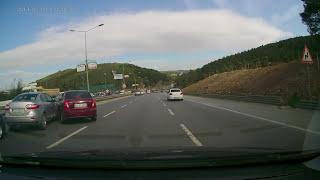 Şile yolu zincirleme trafik kazası canlı kamerada