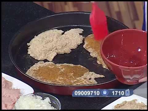 حلقه سنه اولى طبخ للاكلات الصحيه-كفته لحمه بانيه-كفته دجاج بانيه-فراخ بانيه لايت#ساره عبد السلام