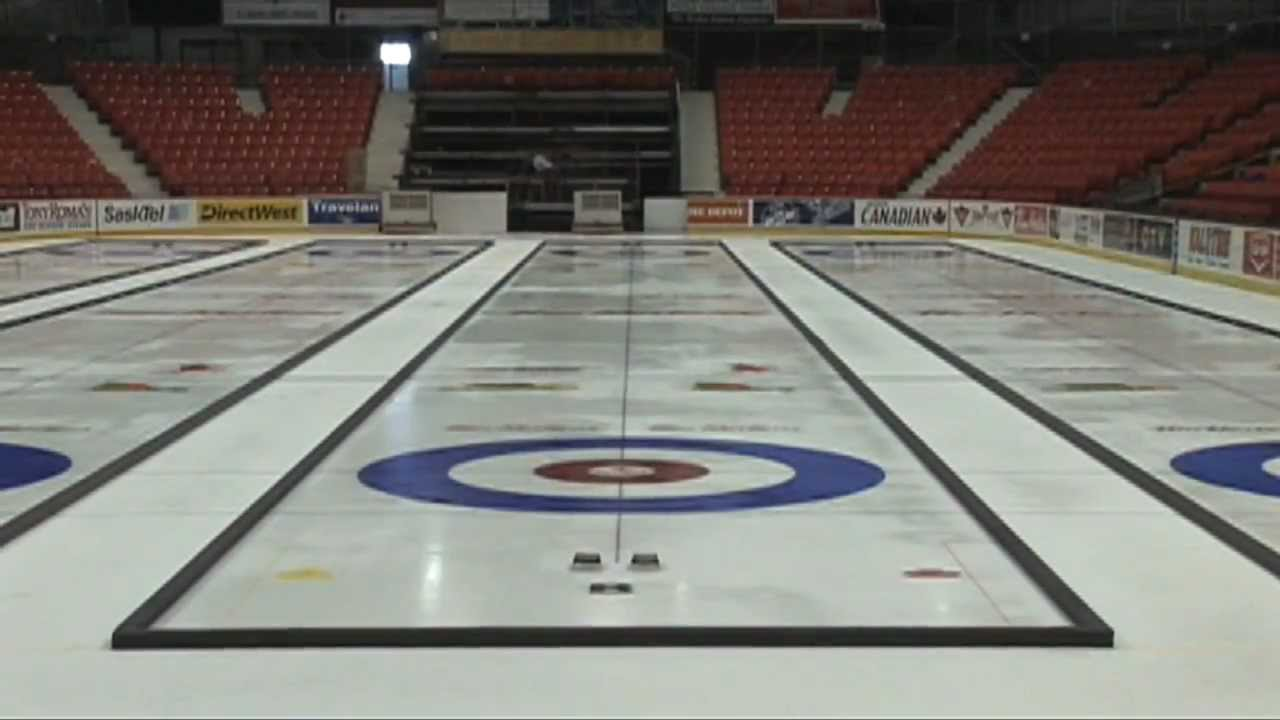 Making Championship Curling Ice Youtube
