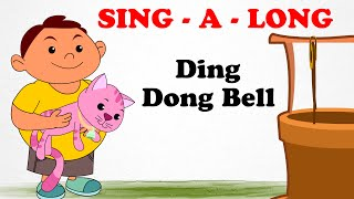 Ding Dong Bell | Sing a long | Animated English Songs | Cartoon Nursery Rhymes For Children