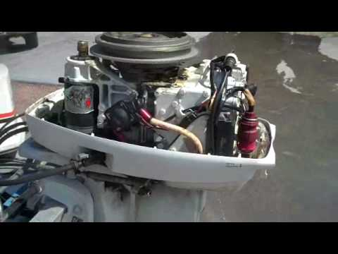1983 Johnson 35hp  YouTube