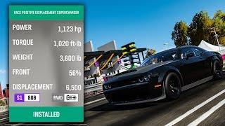 Forza Horizon 4 - 1100HP+ DEMON DRAG BUILD (FULL GAME)