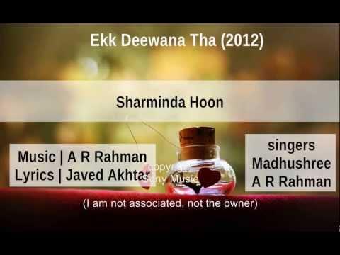Sharminda Hoon - Ekk Deewana Tha [hindi lyrics - english translation]