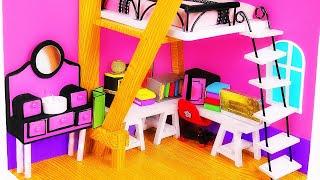 DIY Marinette's Miniatures ~ Dollhouse Room, Backpack, Diary