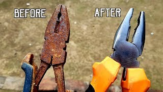 ANTIQUE RUSTY PLIER RESTORATION