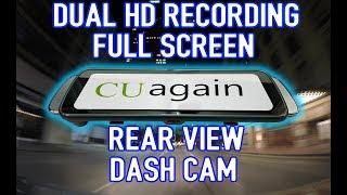"""FULL 10"""" SCREEN Dual HD recording rear view mirror dash cam - CUAgain A20"""