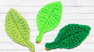 Crochet Simple Leaf Tutorial