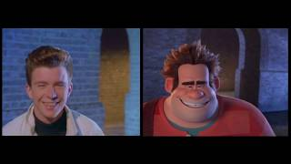 Download lagu Wreck it Ralph | Rick Astley - side-by-side comparison