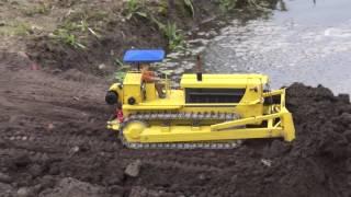 Bridge construction site through water