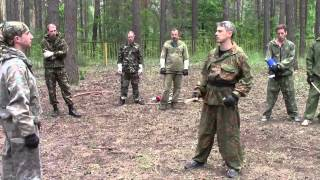 защиты палкой  от атаки ножом   training with a stick