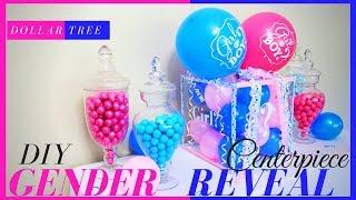 DIY Gender Reveal Box   DIY Gender Reveal Ideas    Gender Reveal Baby Shower Centerpiece