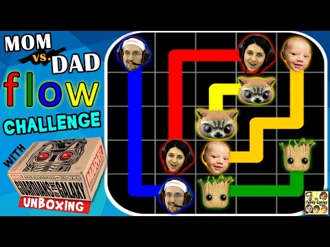 FGTEEV Mom vs. Dad FLOW Gameplay Challenge! (w/ Marvel Guardians of the Galaxy Unboxing)