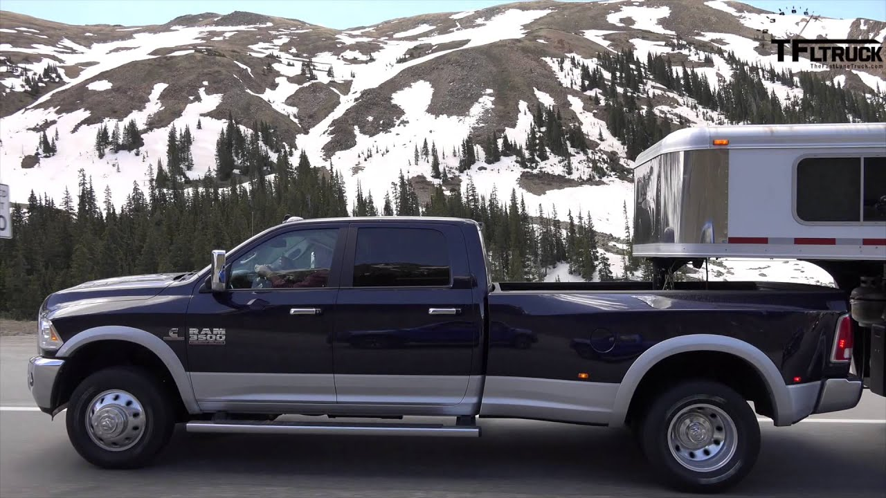 2014 Ram 3500 HD Dually takes on the Grueling Ike Gauntlet HD Towing Test - YouTube