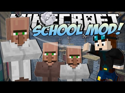 Minecraft   SCHOOL MOD! (Make School FUN & EXPLOSIVE!)   Mod Showcase