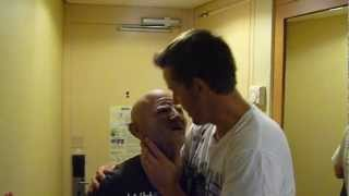 Dirty old man makes out with young guy
