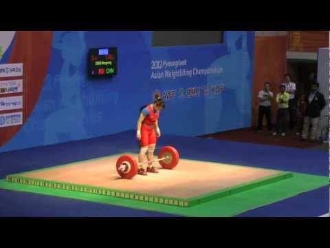 2012 Asian Weightlifting Championships - 63kg women's A group Snatch and Clean & Jerk Image 1