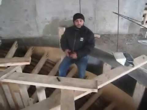 Монолитная лестница в работе