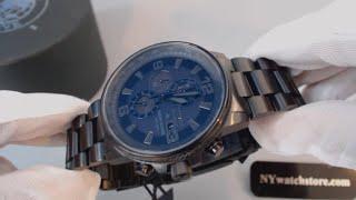 Men's Citizen Eco Drive Blackout Nighthawk Chronograph Watch CA0295-58E