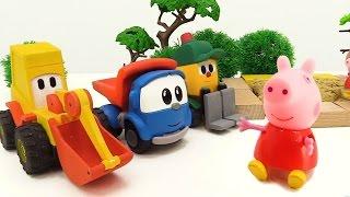 #türkçeizle.Leo, Ekskavatör Max Ve Lifty Peppa Için Oyun Alanı Yapıyorlar. #eğiticivideo