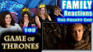 Game of Thrones | 108 | The Pointy End | FAMILY Reactions | Fair Use