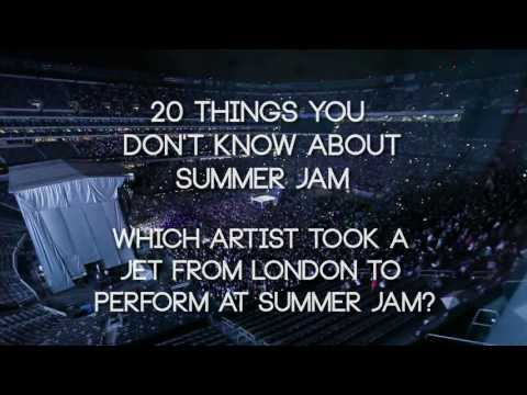 Which artist flew from London straight to Summer Jam?