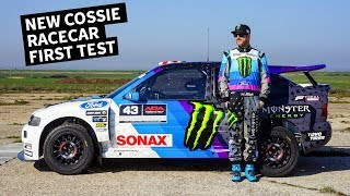 Ken Block Drives His New Ford Escort Cossie Racecar!
