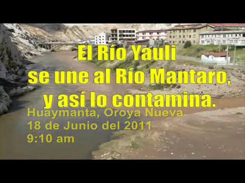 Contaminación Río Yauli y Mantaro