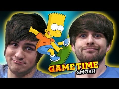 WE FINALLY BEAT THE SIMPSONS (Gametime with Smosh)