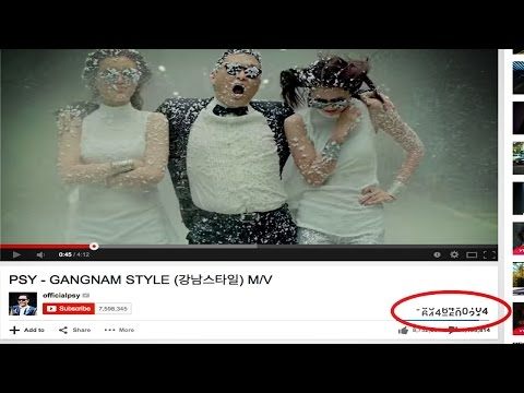 Gangnam Style Breaks Youtube video