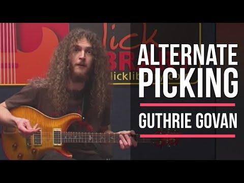 Guthrie Govan Alternate Picking Guitar Lesson | Licklibrary Guitar Lessons #tbt video