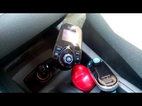 AVANTEK Freisprechanlage Bluetooth FM Transmitter Auto Radio Usb Micro SD  Aux in