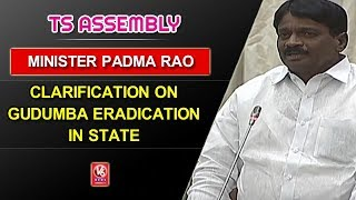 Minister Padma Rao Clarification On Gudumba Eradication In State | TS Assembly