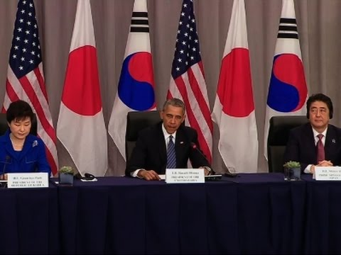 Obama, Guen-Hye, Abe Talk North Korea Sanctions