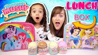 SERIES 2 SMOOSHY MUSHY LUNCHBOX SWITCH UP CHALLENGE WITH REAL FOOD AND SQUISHIES | KID VS PARENT