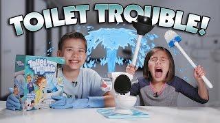 TOILET TROUBLE CHALLENGE!!! w/ SLOW-MO Flush Cam!